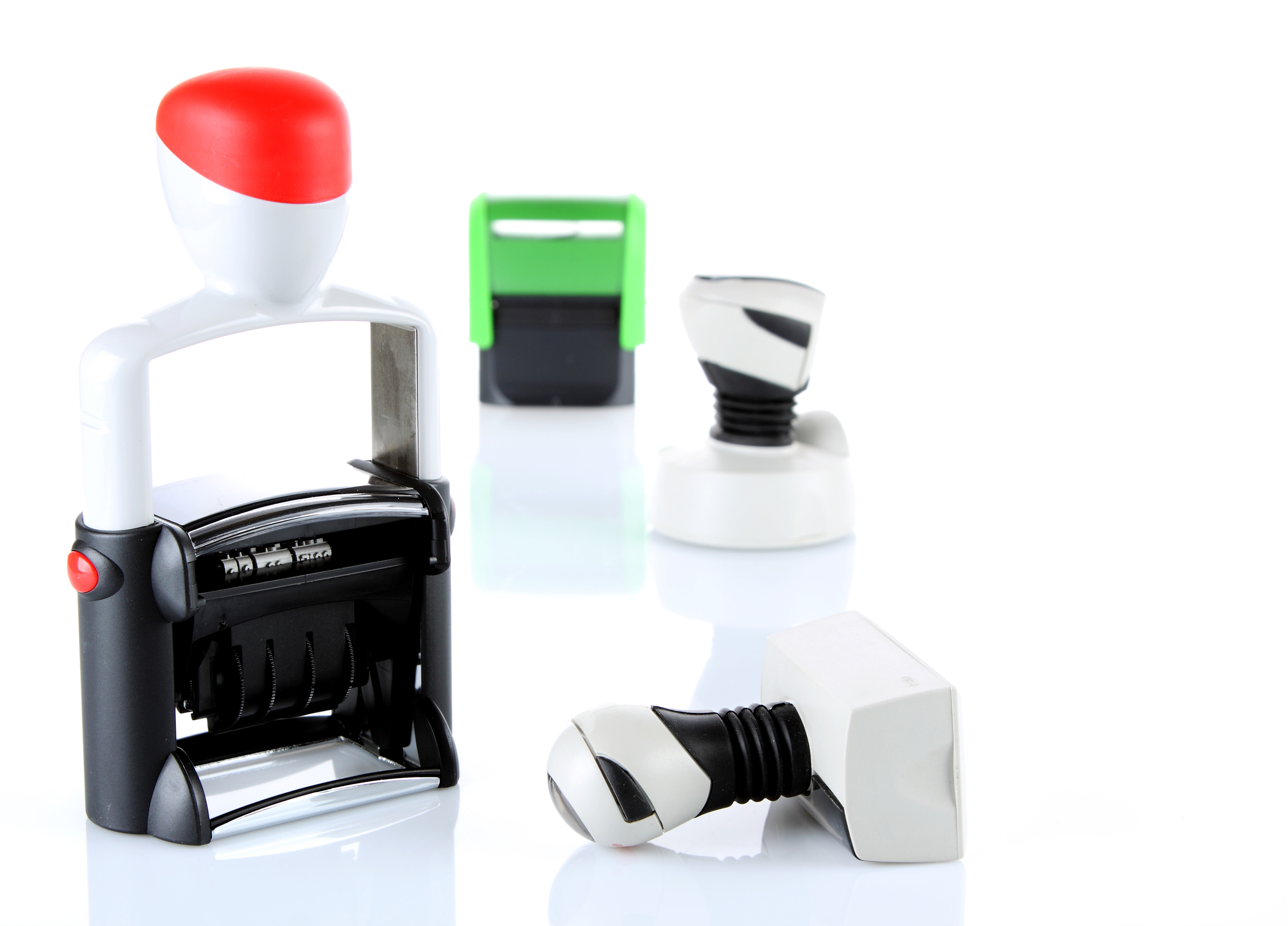 types of rubber stamps